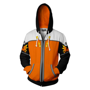 Kingdom Hearts Sora Hoodies - Zip Up Sora Expert Form Hoodie