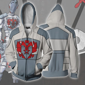 Borderlands Vladof Hoodies - Zip Up Light Blue Hoodie