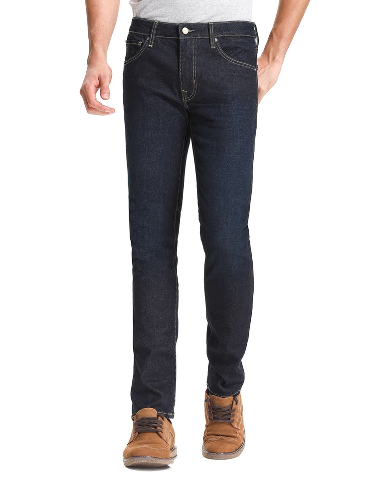 D-ID Mens' 320 Skinny-Fit Stretch Jeans Medium Rise Indigo