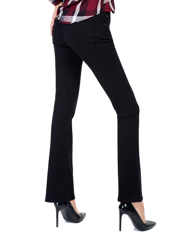 D-ID Women's Slim Fit 236 Boot Cut Jeans Regular Waist Black