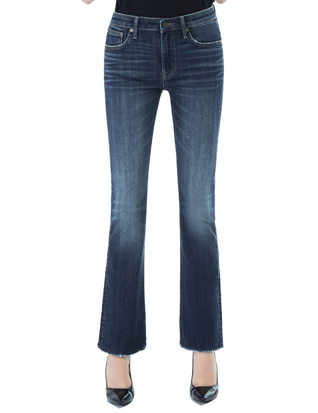 Women's Slim Fit 264 Boot Cut Jeans Regular Waist Mid Blue