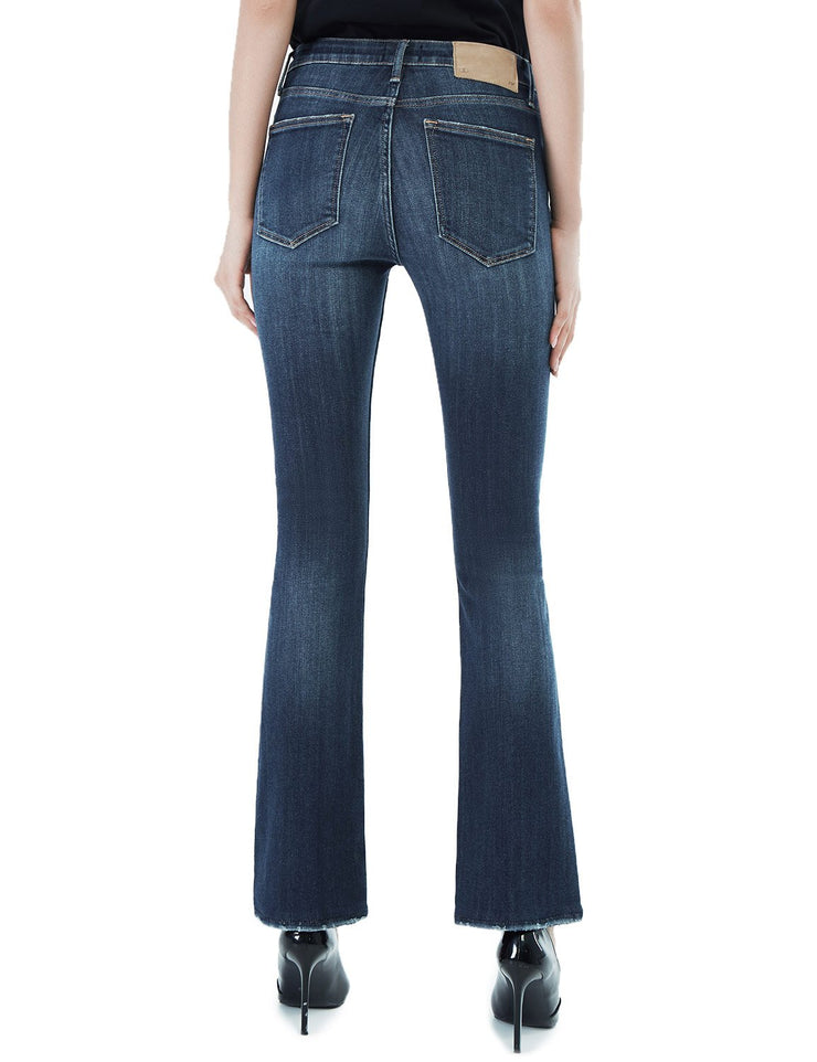 Women's Slim Fit 266 Boot Cut Jeans Regular Waist Mid Blue
