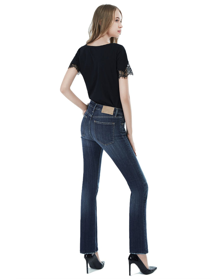 Women's Slim Fit 262 Boot Cut Jeans Regular Waist Mid Blue
