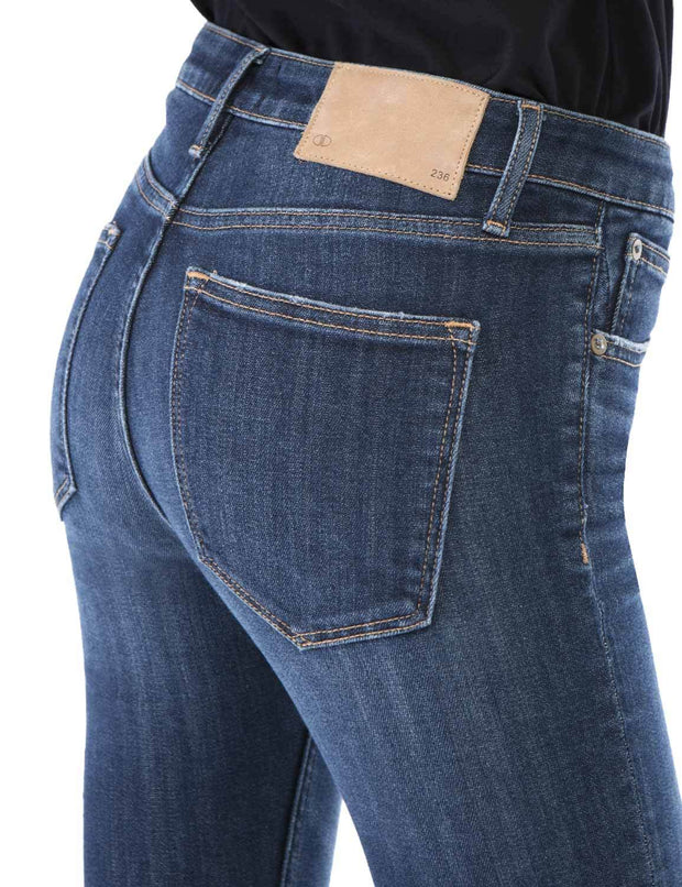 Women's Slim Fit 263 Boot Cut Jeans Regular Waist Mid Blue