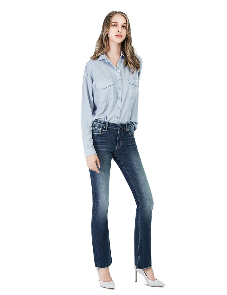 Women's Slim Fit 236 Boot Cut Jeans Regular Waist Light Blue