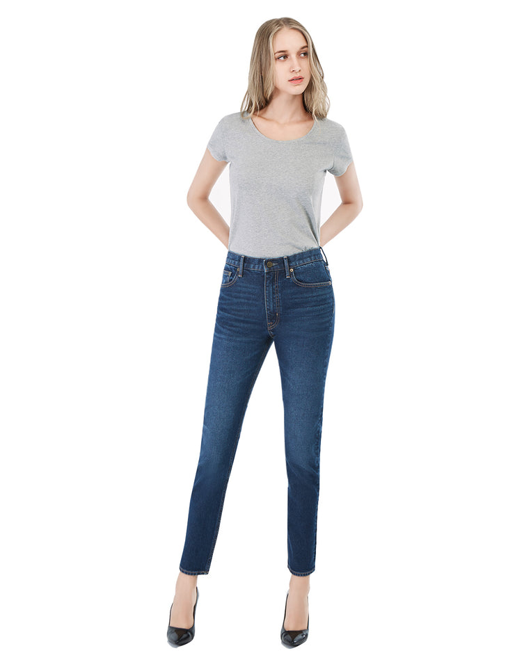 Women's 257 Premium Slimming Straight Leg Taper Jeans High Waist
