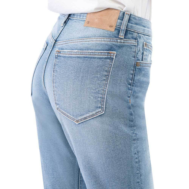 Women's 257 Premium Slimming Straight Leg Taper Jeans High Waist Light Blue