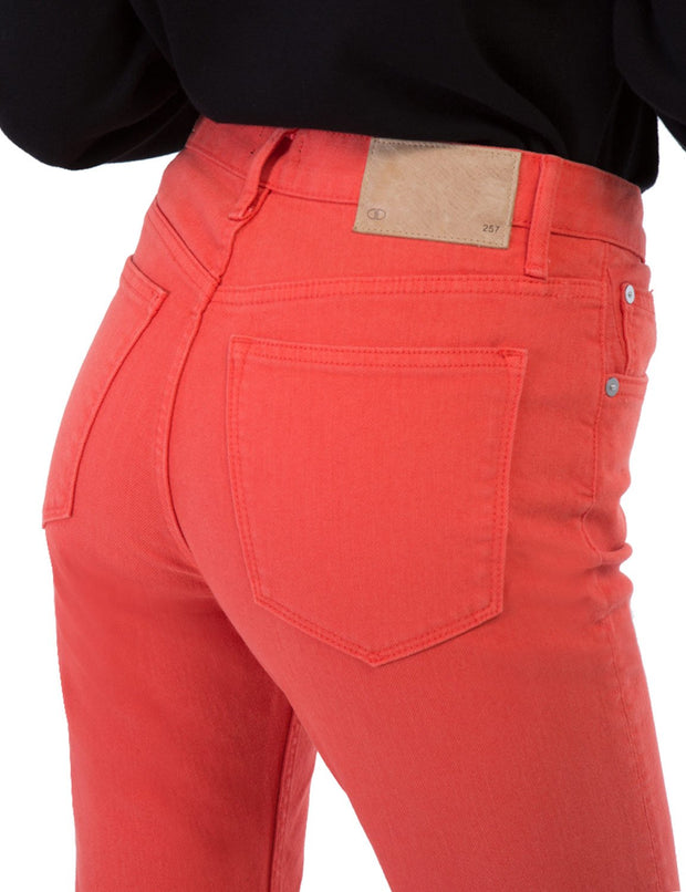 Women's 257 Premium Slimming Straight Leg Taper Jeans High Waist  Orange Red