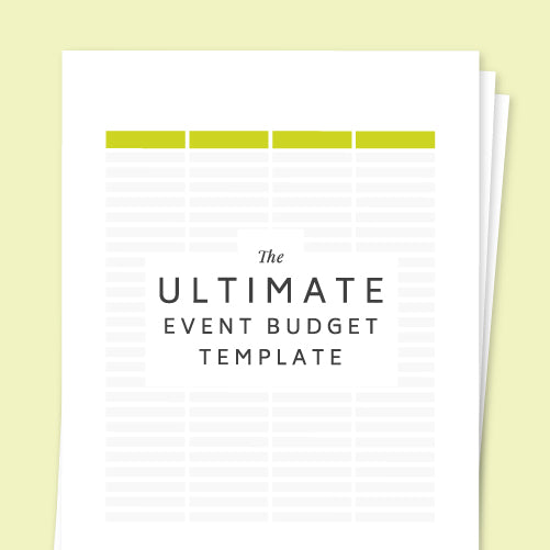 The Ultimate Event Budget Template