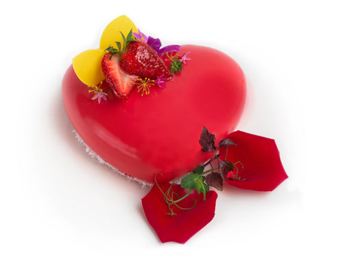 Strawberry Mousse - Heart Shaped (1 pound)