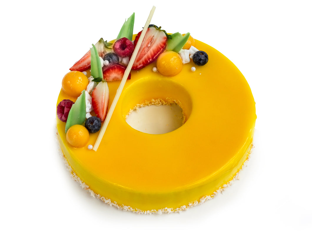 Mango Coconut Mousse - Saturn Shaped (2 pounds)