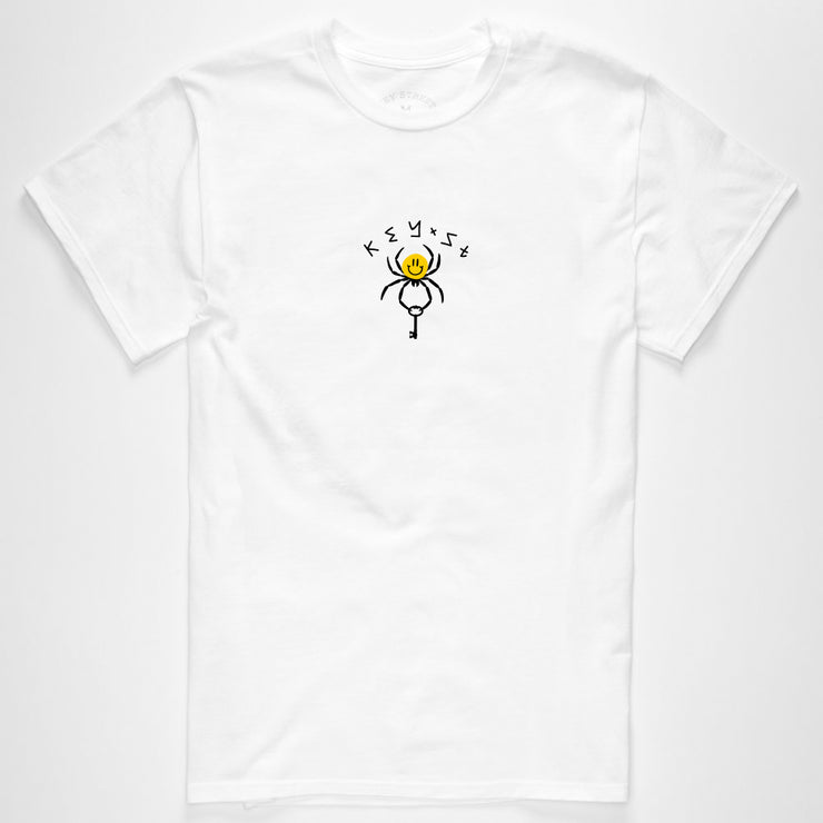The Smile Spider Tee in white
