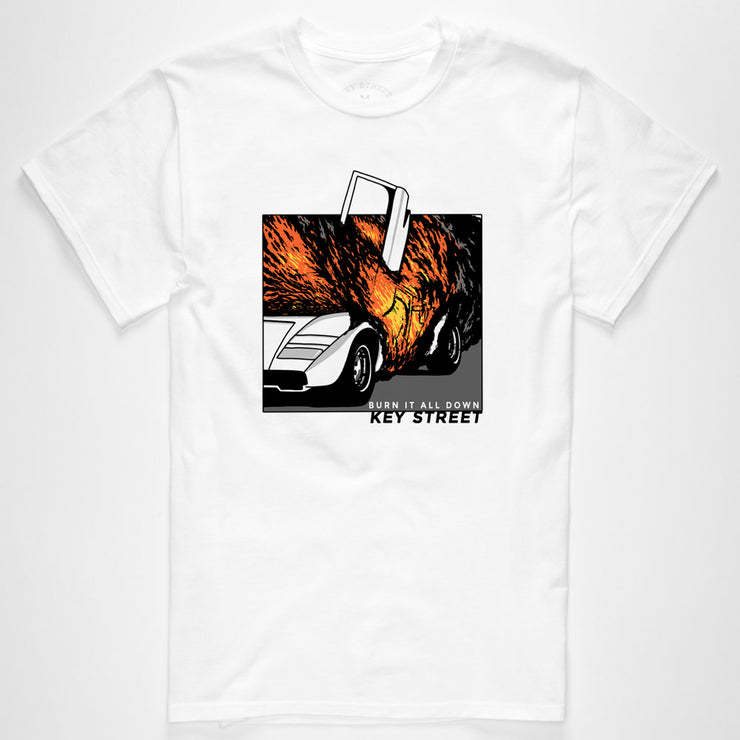 The Burn It All Down Tee in white