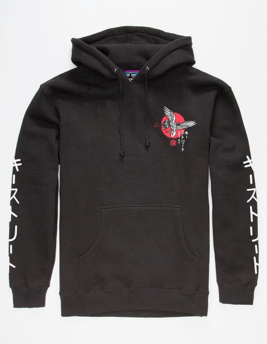 The Crane Pullover Hood in black