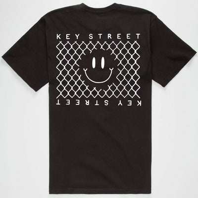 The Smile tee in black