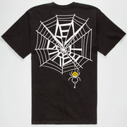 The Smile Spider Tee in black