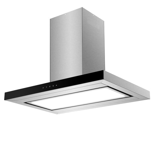 90cm Island Box Canopy Rangehood with Perimeter Extraction