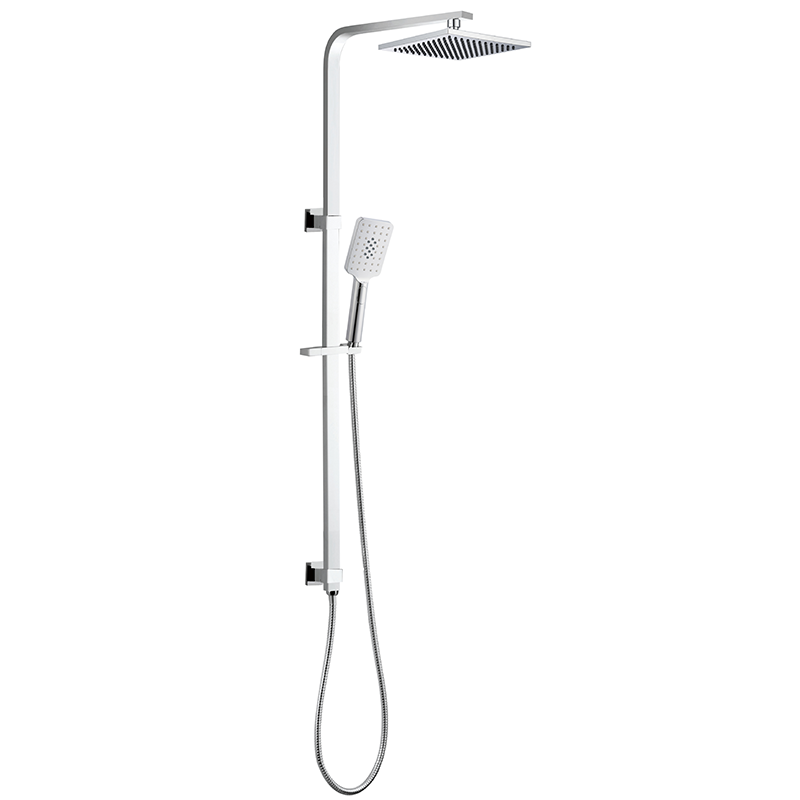 Dual Square Shower - Single Hose