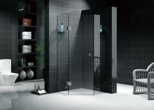 Frameless Diamond Shape Shower Screen
