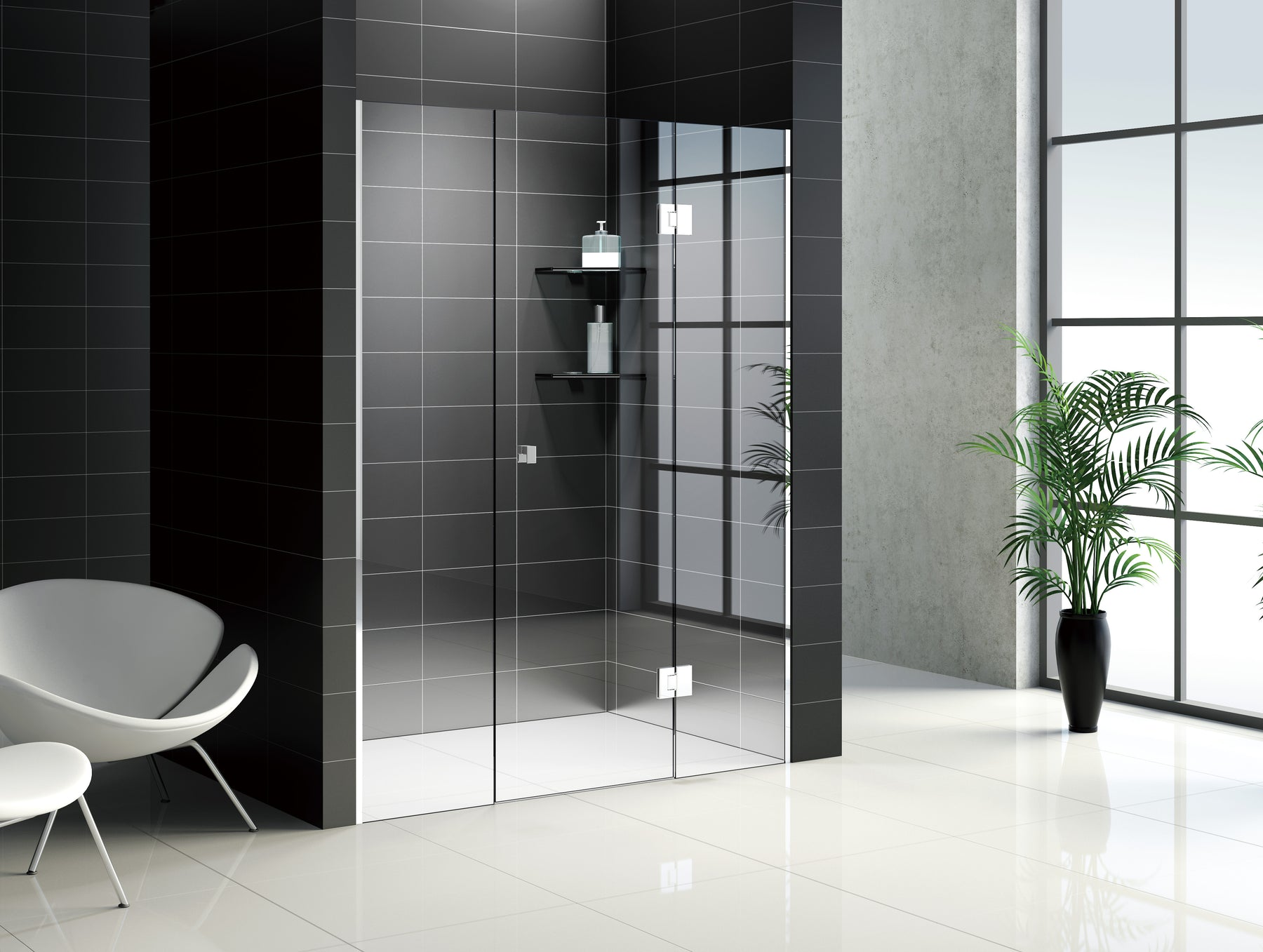 Frameless Shower Screen - Front Only