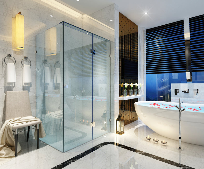 Frameless Shower Screen - Front and Return