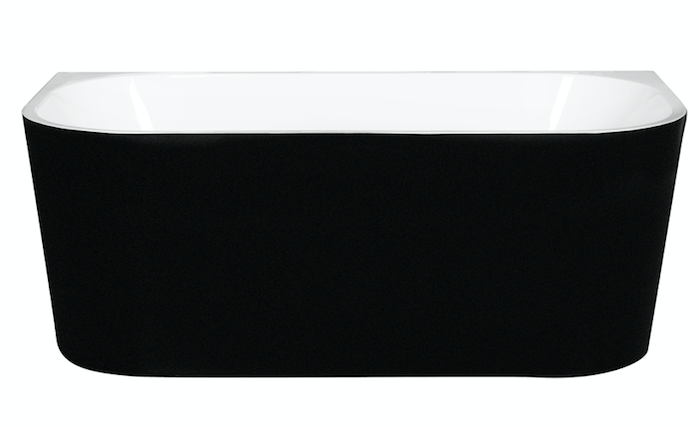 Matte Black Back To Wall Bath