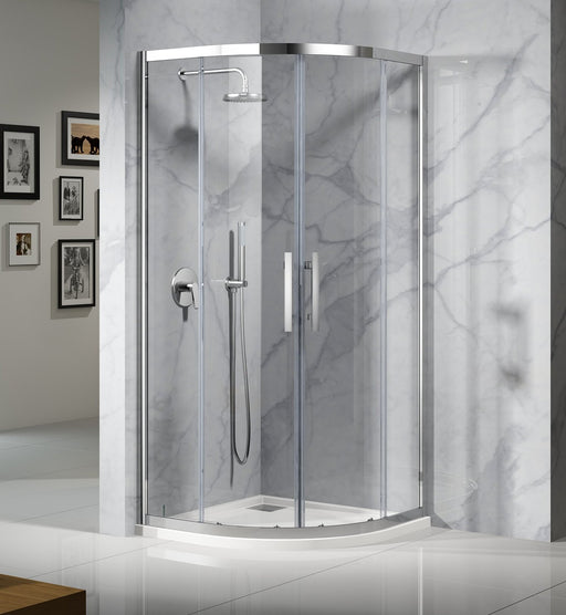 Louve Curved Slider Shower Screen