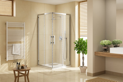 Louve Square Slider Shower Screen