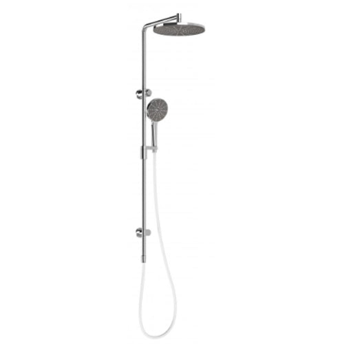 NX Vive Twin Shower System Chrome / White