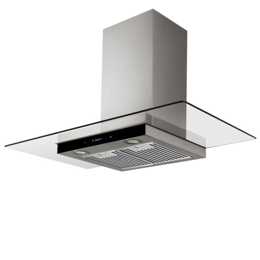 90cm Flat Glass Canopy Rangehood