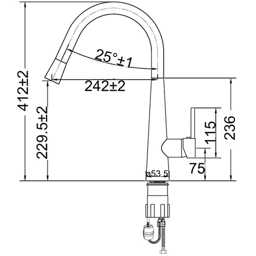 SM-03 Pull Down Sink Mixer