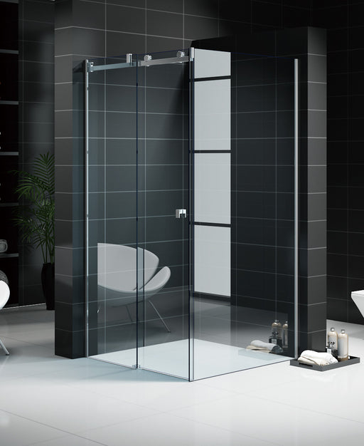 Frameless Sliding Shower Screen - Front and Return