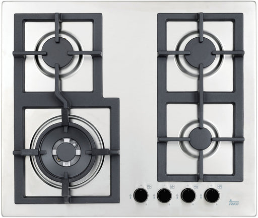 60cm Stainless Steel Gas Cooktop with Wok Burner