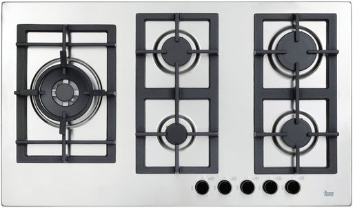90cm Stainless Steel Gas Cooktop with Wok Burner