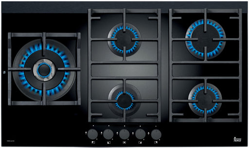 90cm Gas on Glass Cooktop with Wok Burner