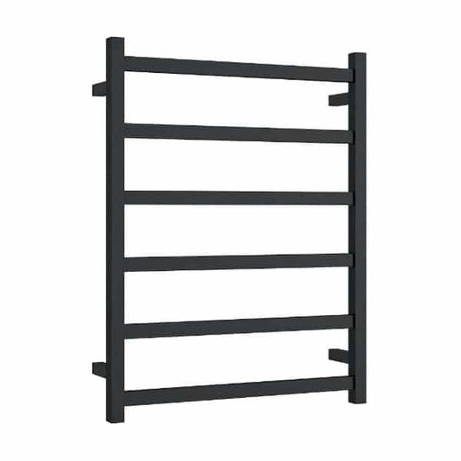 BS48MB Matt Black Straight Square Ladder Heated Towel Rail