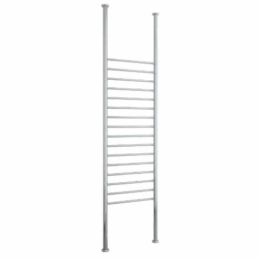 FC70R Straight Round Floor to Ceiling Heated Towel Rail