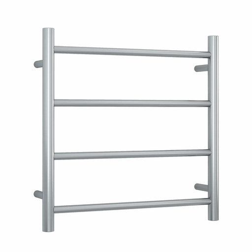 SRB25M Brushed Straight Round Ladder Heated Towel Rail