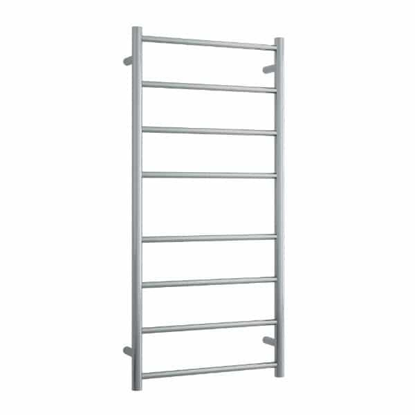SRB27M Brushed Straight Round Ladder Heated Towel Rail