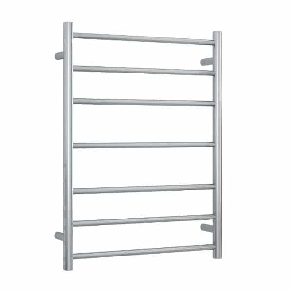 SRB44M Brushed Straight Round Ladder Heated Towel Rail