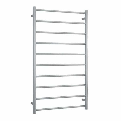 SRB69M Brushed Straight Round Ladder Heated Towel Rail