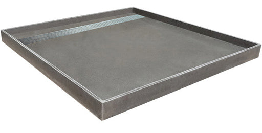 Shower Tray With Channel Grate Stainless Oval Slotted Lid