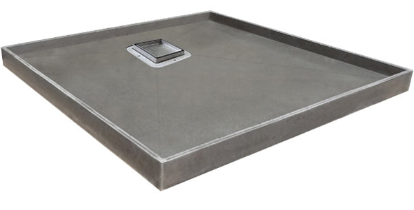 Shower Tray With Smart Tile Rear Outlet