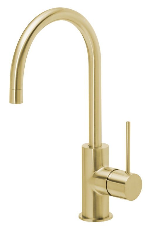 Vivid Slimline Side Lever Sink Mixer 160mm Gooseneck