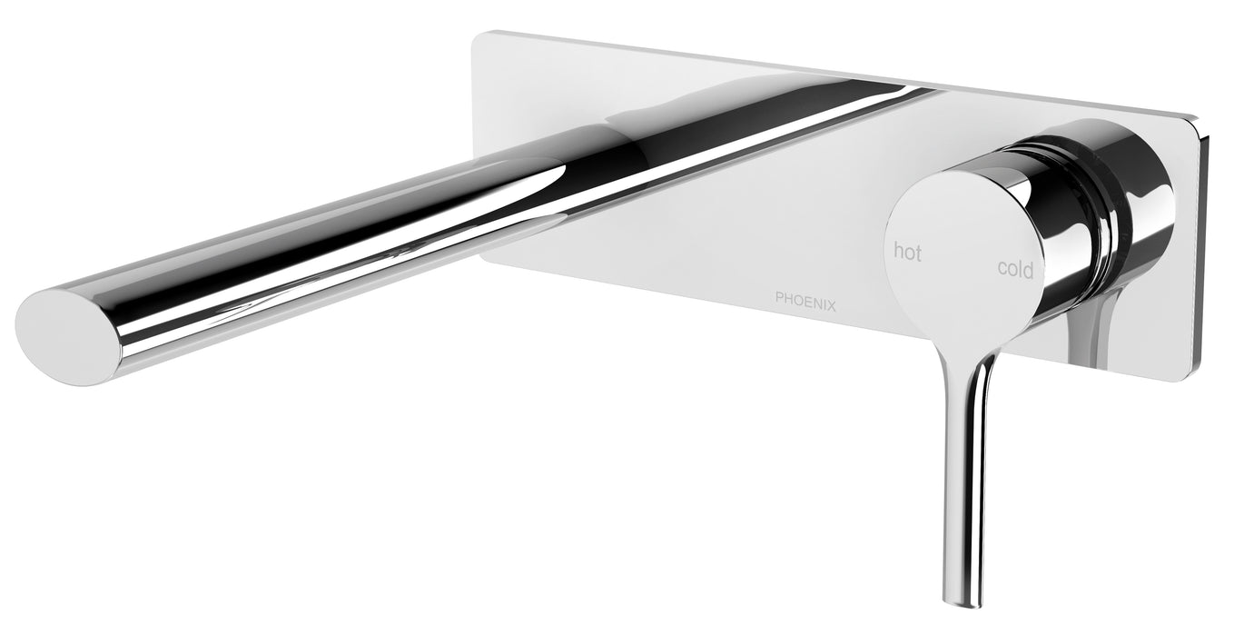 Vivid Slimline Oval Bath Mixer and Spout on Plate