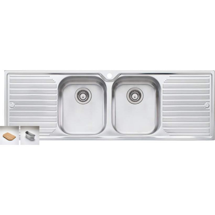 Diaz DZ153 Double Bowl Inset Sink