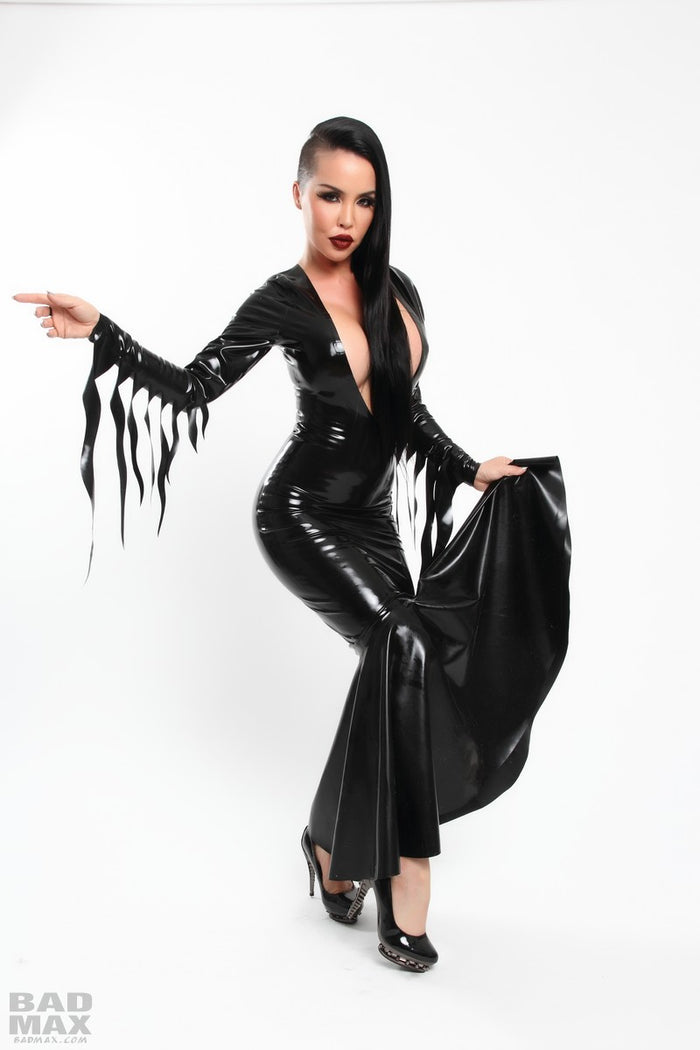 Latex Morticia Mermaid Dress