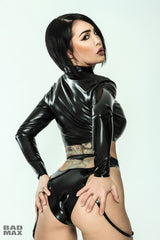 Latex Cropped Zip Jacket