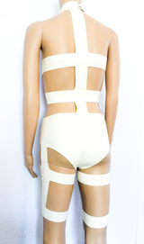 Latex LeeLoo Bandage Cosplay Outfit Fifth Element