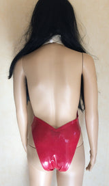 Latex Vampirella Cosplay Bodysuit